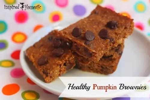 Healthy Pumpkin Brownies