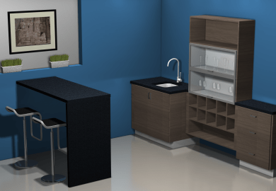 Kitchen Cabinets And Bar