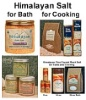 Himalayan Crystal Rock Salt Products for Bath and Cooking