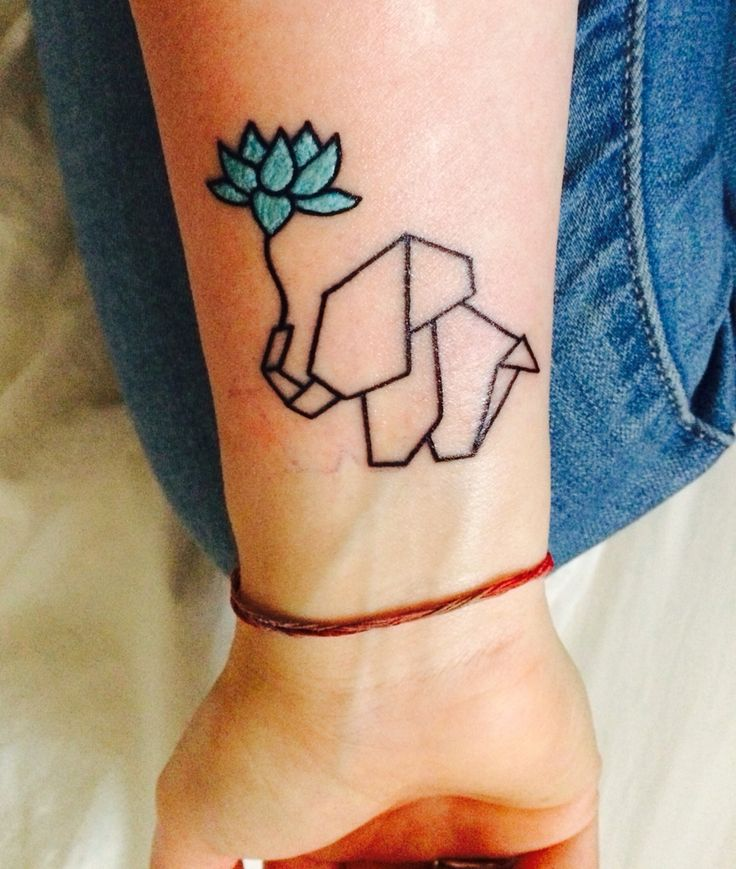 25 Cute Origami Inspired Tattoo Design Ideas