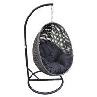 Peter Hanging Egg Chair - Granite Wicker - Inspired ...
