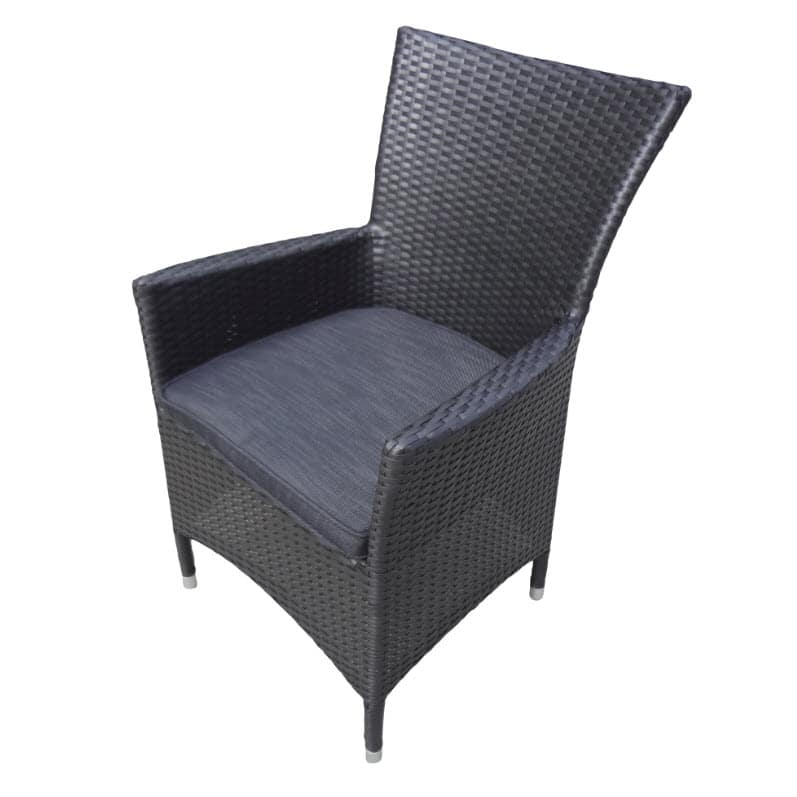 Rhodes Tub Chair  Black Wicker  Inspired Outdoor Living