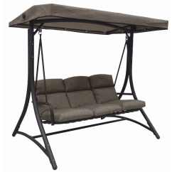 Swing Chair Bunnings Racing Wheel Xbox One Opus Cappuccino 3 Seat Cushioned - Inspired Outdoor Living