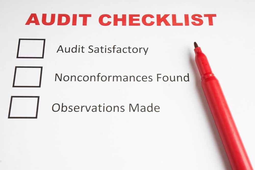 Audit Report contents