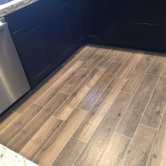 Tile Kitchen Countertops Small Apartment Wood Look - Inspired Remodels