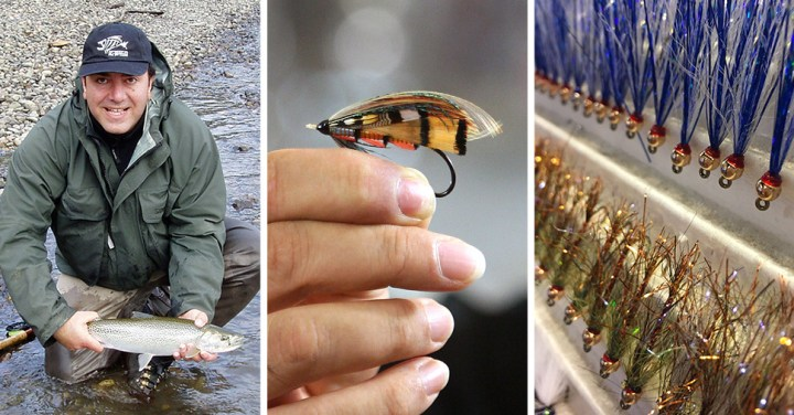 Andre Stepanian with trout in hand ~ Classic fly in hand ~ Leeches and fry patterns :: Inspired Spaces