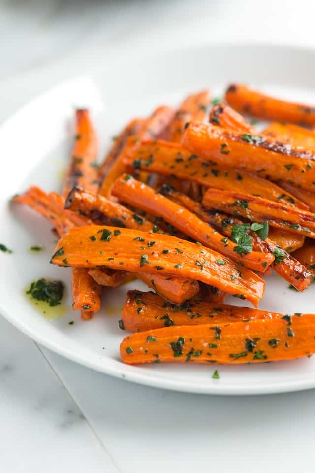 Roasted Carrots with Parsley and Garlic Butter- InspiredTaste