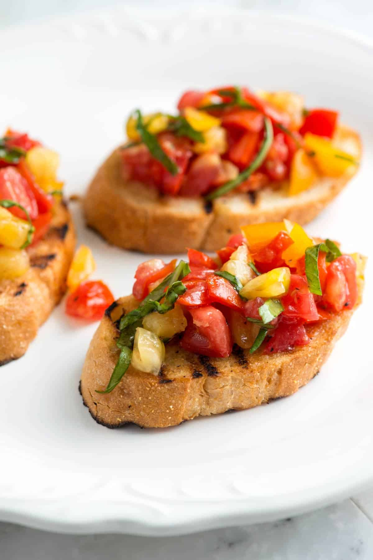 Image result for image bruschetta with tomatoes