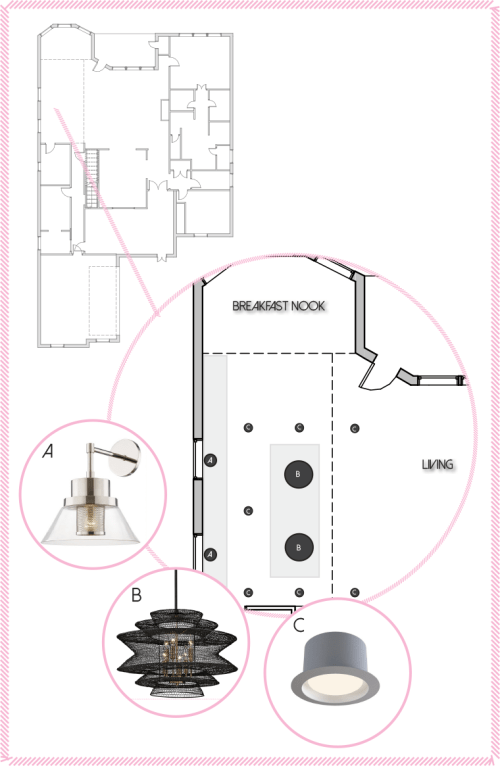 small resolution of kitchen lighting plan