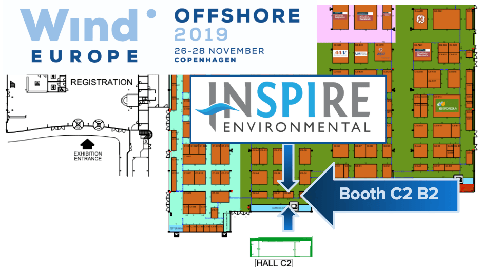 INSPIRE Environmental's Forward Faster Team will be at WindEurope Offshore Booth C2 B2.