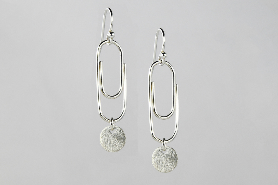 Paperclip Earrings- Gold Filled & Sterling Silver