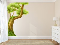 JUNGLE WALL DECALS WITH LARGE TREE