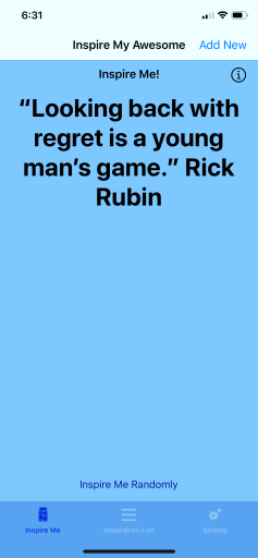 Looking back with regret is a young man's game. - Rick Rubin