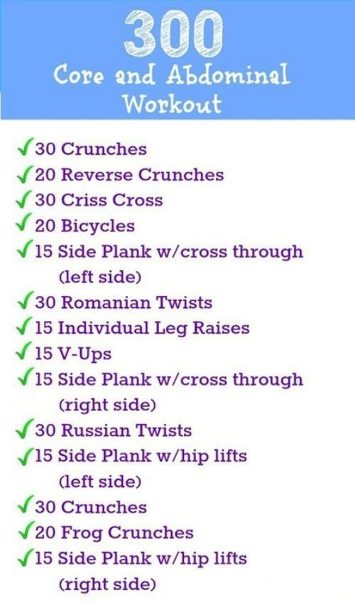 300 core and ab workout