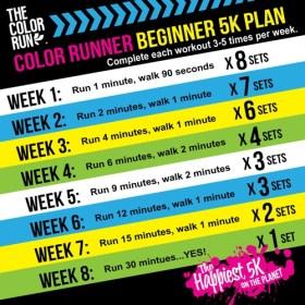 Color Run Beginner 5k plan