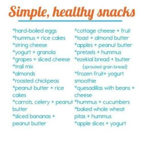 Simple, healthy snacks