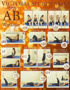 Victoria's Secret Model Abs workout
