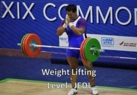 Weight Lifting. Level: Jedi.