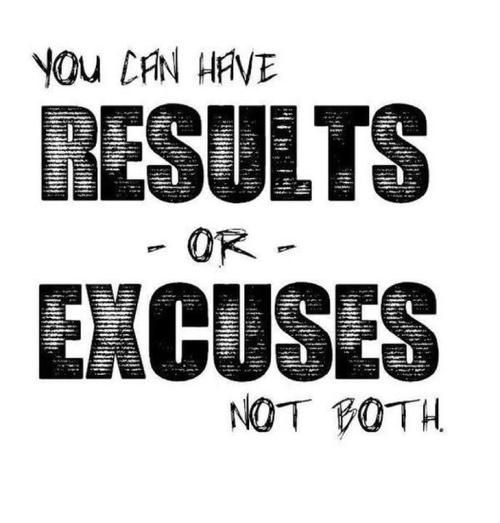 You Can Have Results Or Excuses InspireMyWorkout A Unique Excuses Quotes