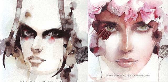 Gli acquarelli di Petra Dufkova   Inspire We Trust