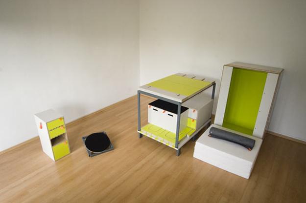 Casulo room in a box. Arredare la stanza con una scatola