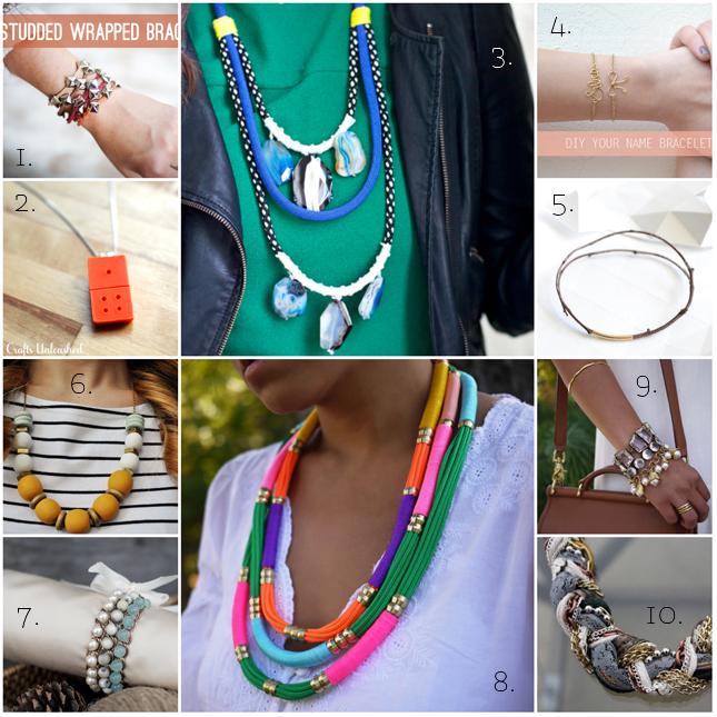 10 gioielli fai da te da provare - craft collection