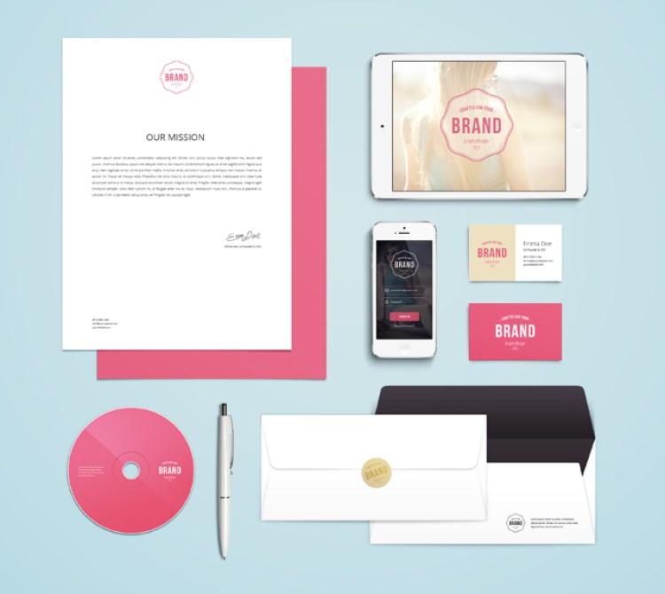 25 free brand stationery mockup professionali
