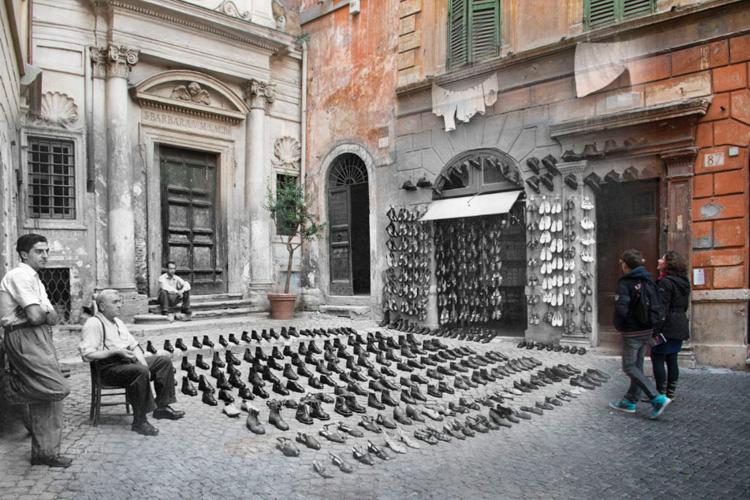 Le foto di Roma ieri riviste oggi