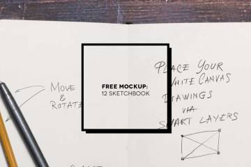 12 Free sketchbook mockup