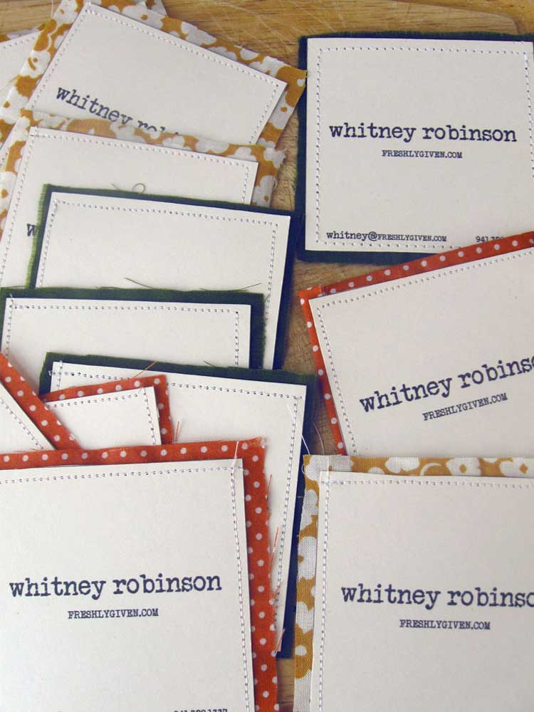 How to make business cards with other material
