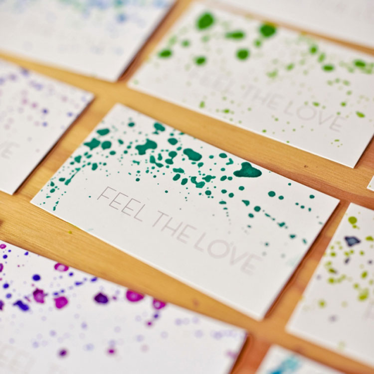 How do yourself business cards with watercolor