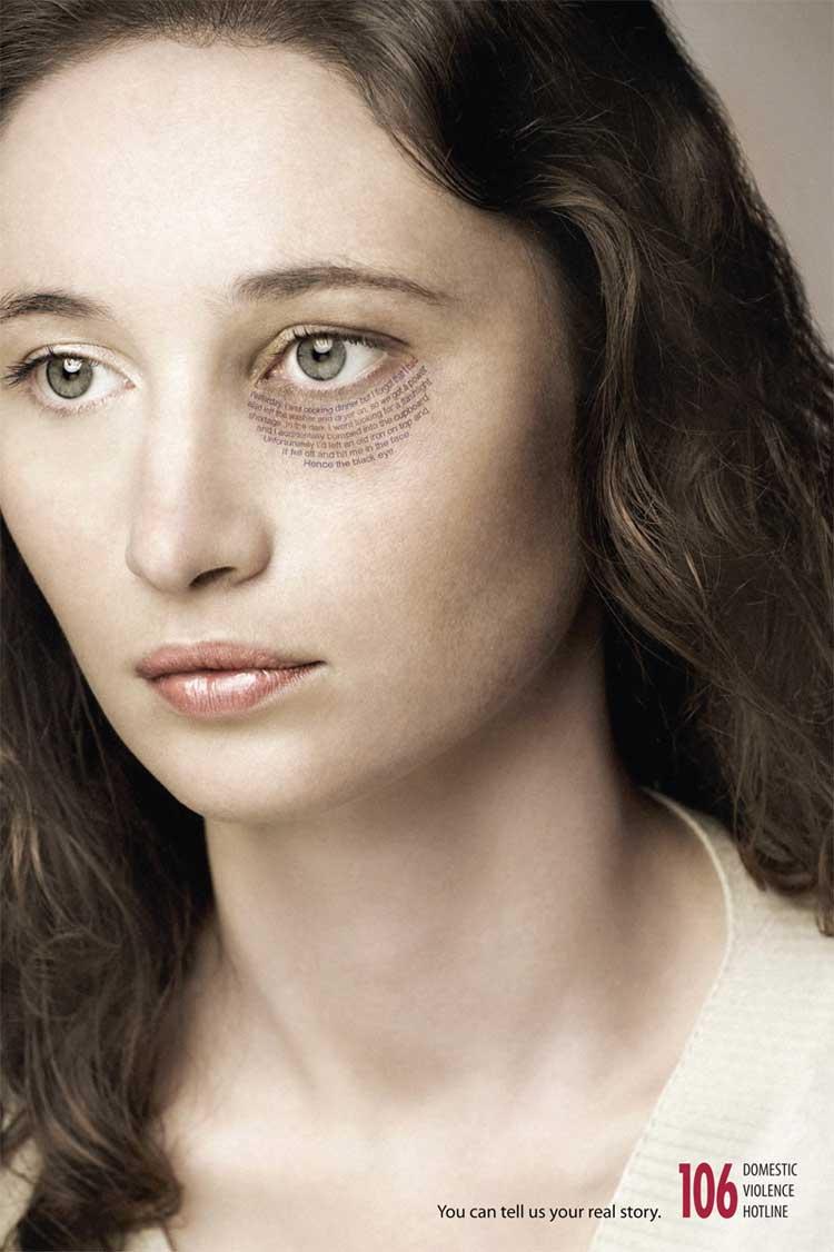 shocking advertising - violence against women