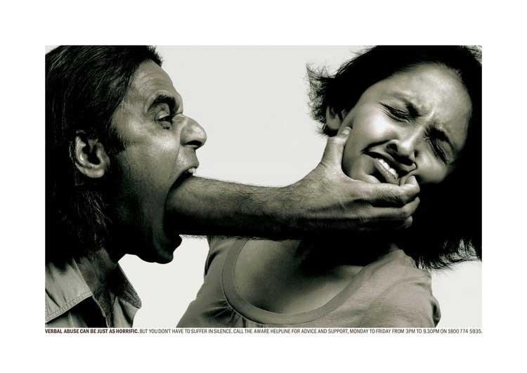advertising against violence on women