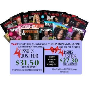 Inspiring Magazine 2021 Annual Subscription (You & A Friend)