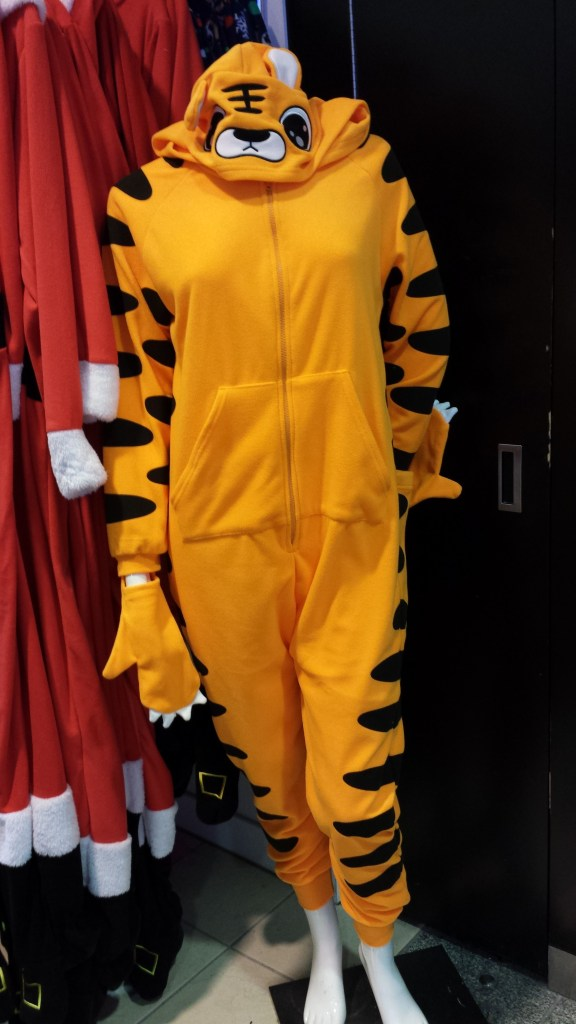 Many people would like to envelope themselves in this cosy Tiger onsie.