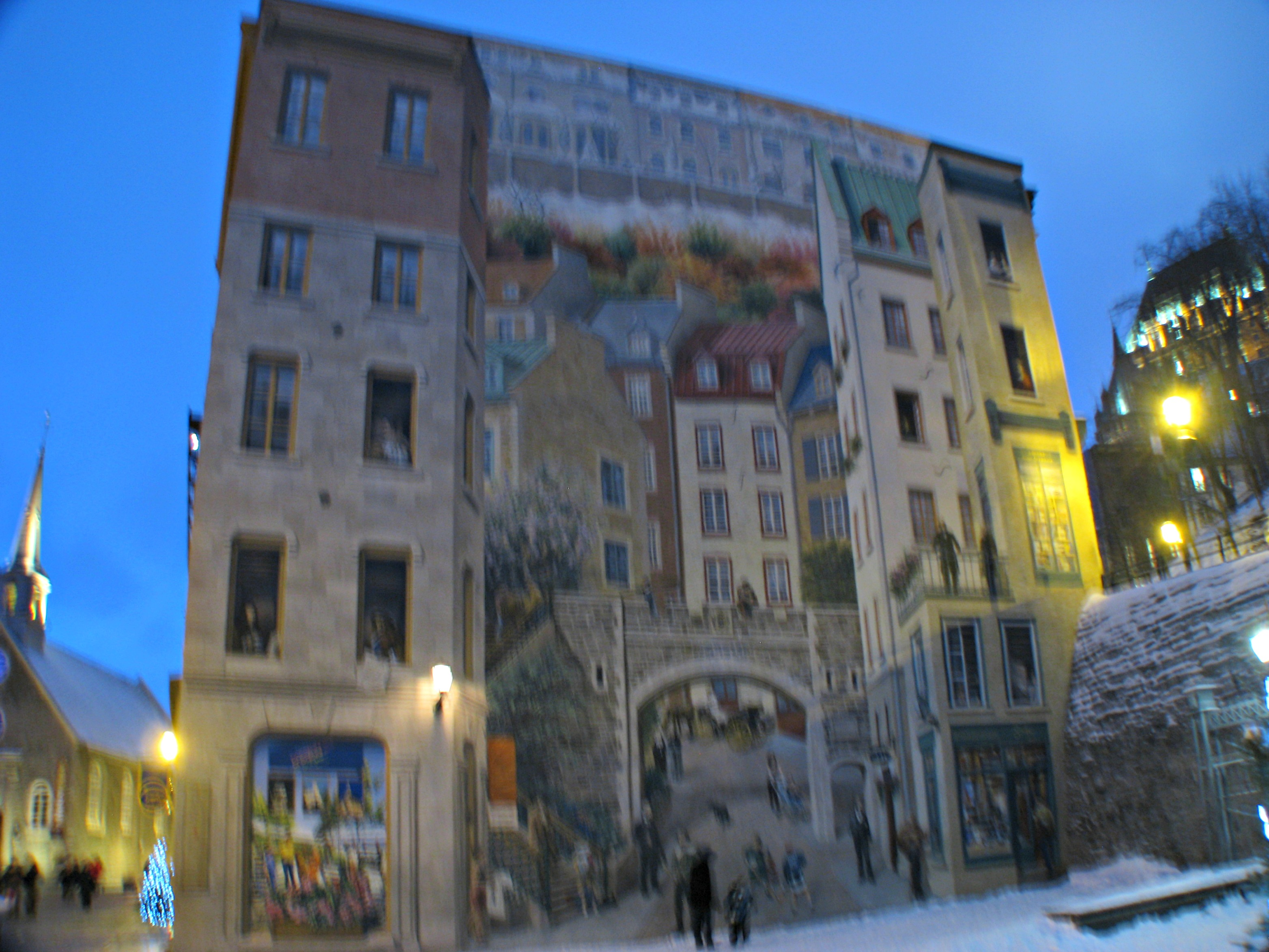 Weekly photo challenge life imitates art inspiring max for Mural quebec city