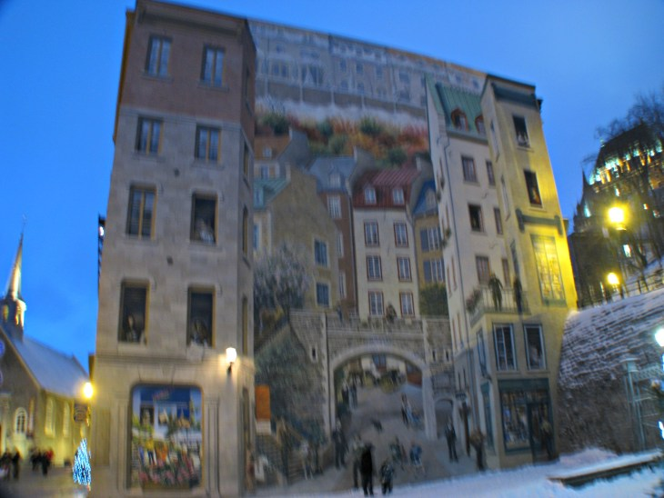 Mural of quebecers archives inspiring max for Mural quebec city
