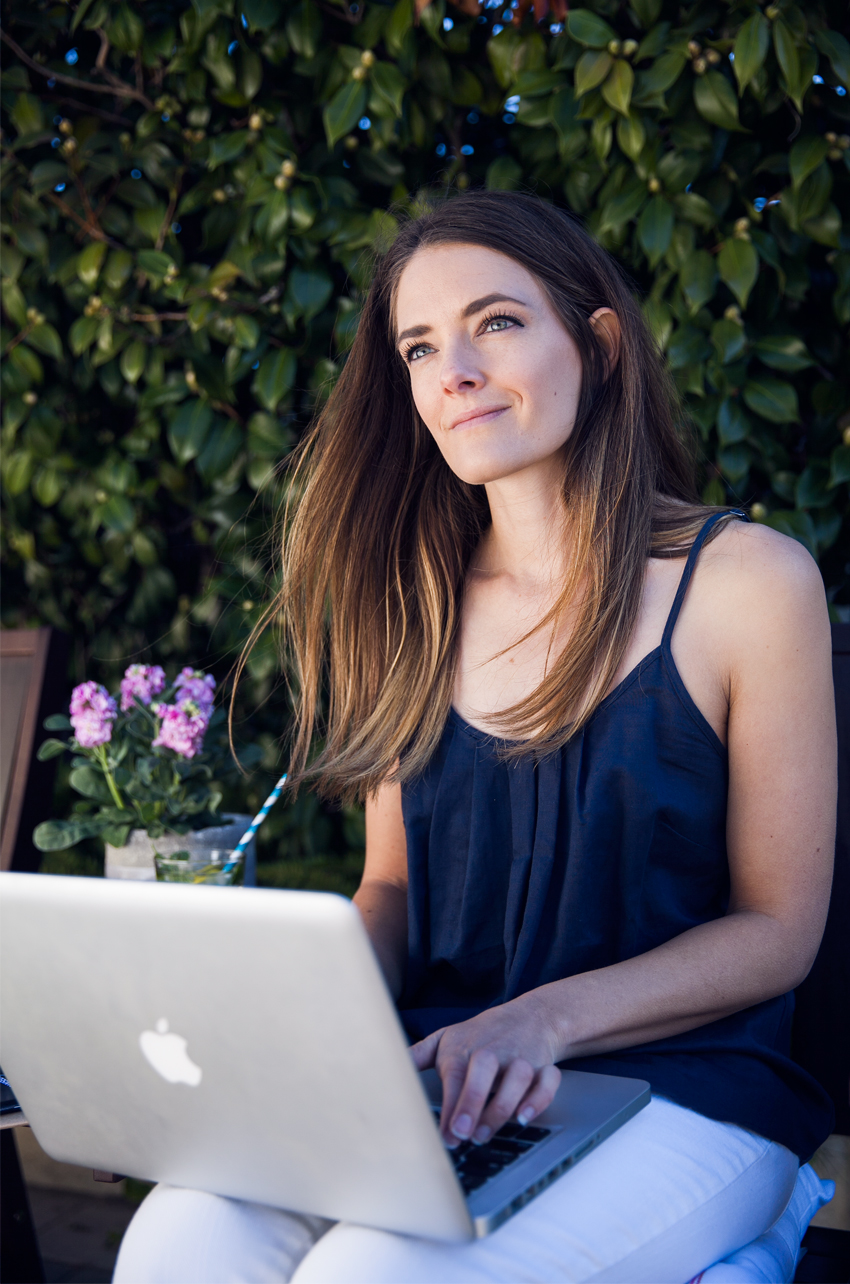 Super Amart and Inspiring Wit blogger Jenelle Witty on working outdoors