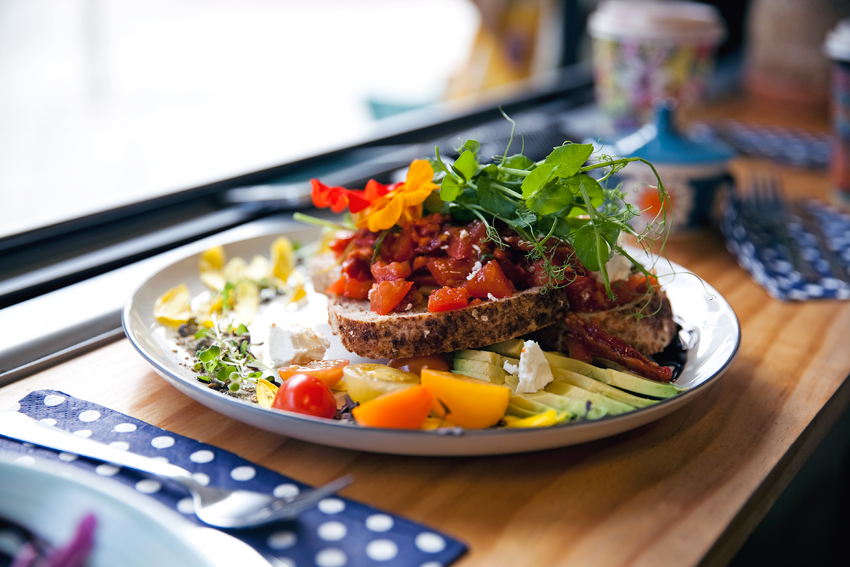 Flora and Fauna Cafe in Northbridge photo of the Bruscetta shot by Jenelle of Inspiring Wit