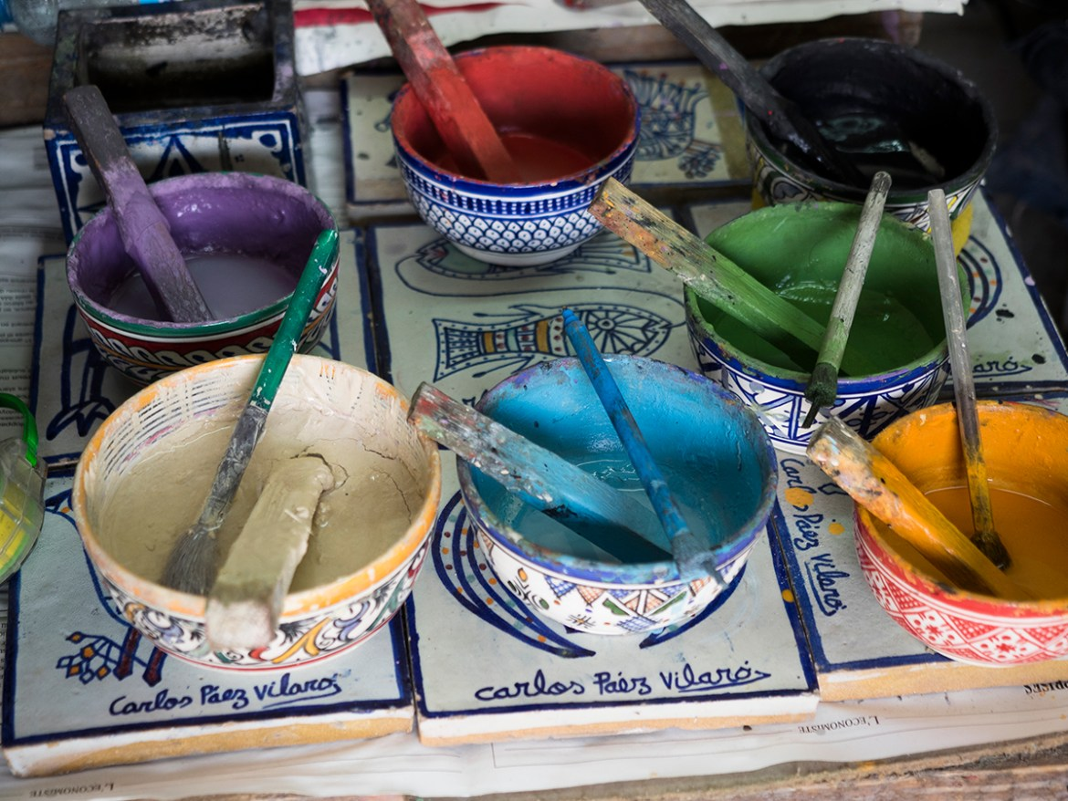 Fez pottery workshop