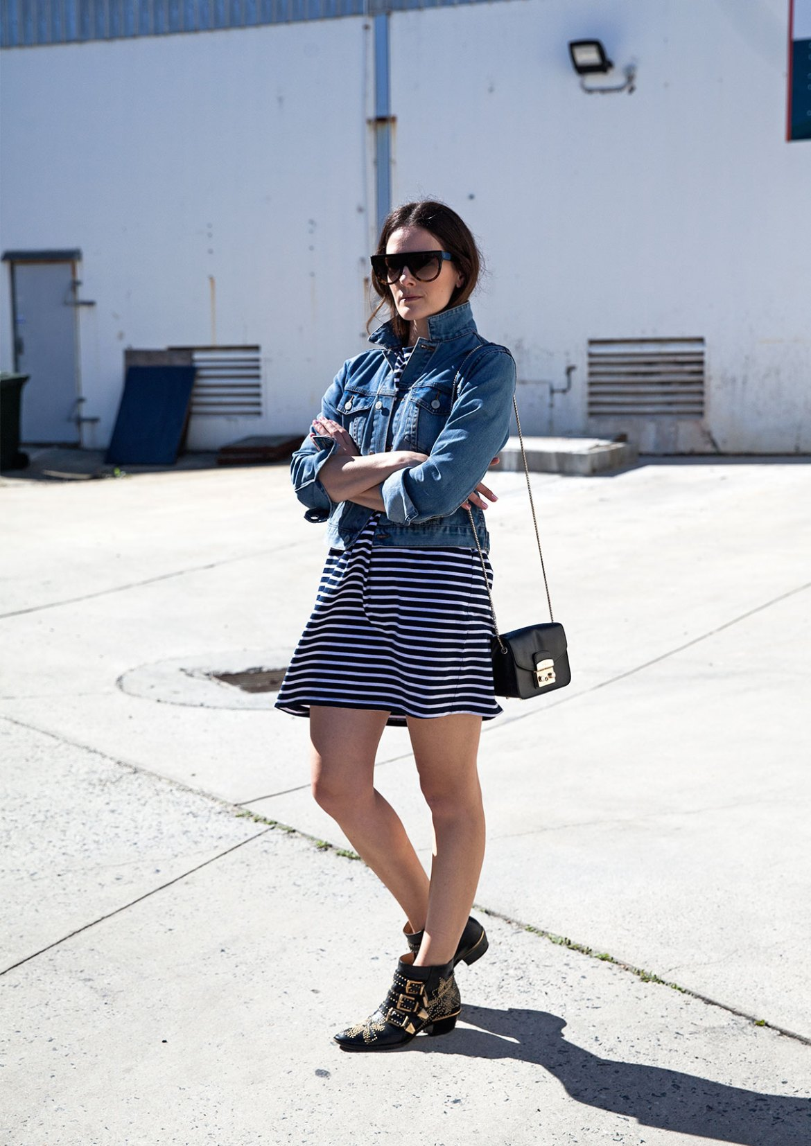 Jenelle of Perth style, travel and fashion blog Inspiring Wit in denim jacket street style luxe