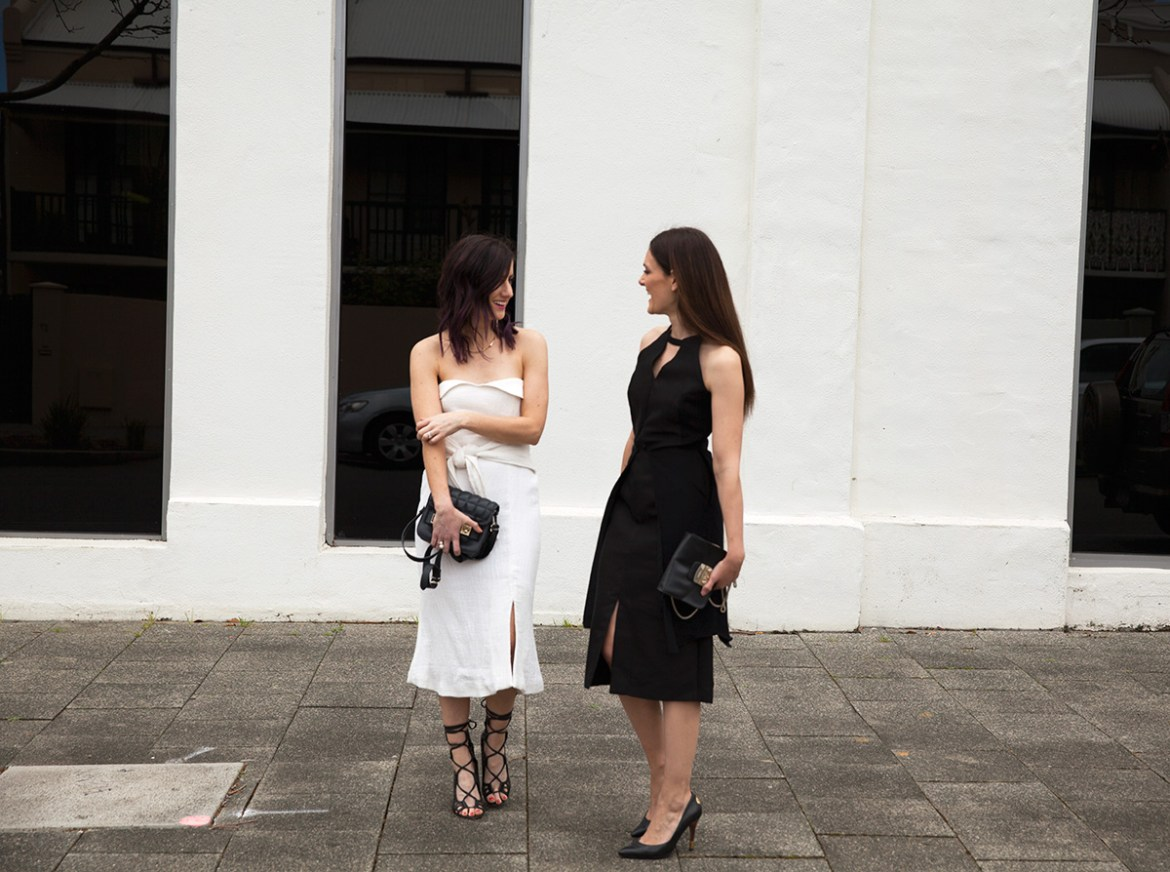 Perth fashion bloggers She Does (left) @shedoesstyle and Inspiring Wit (right) @inspiringwit in Wild Horses for Melbourne Cup and Spring Racing #springracing #fashionbloggers #shedoes #inspiringwit