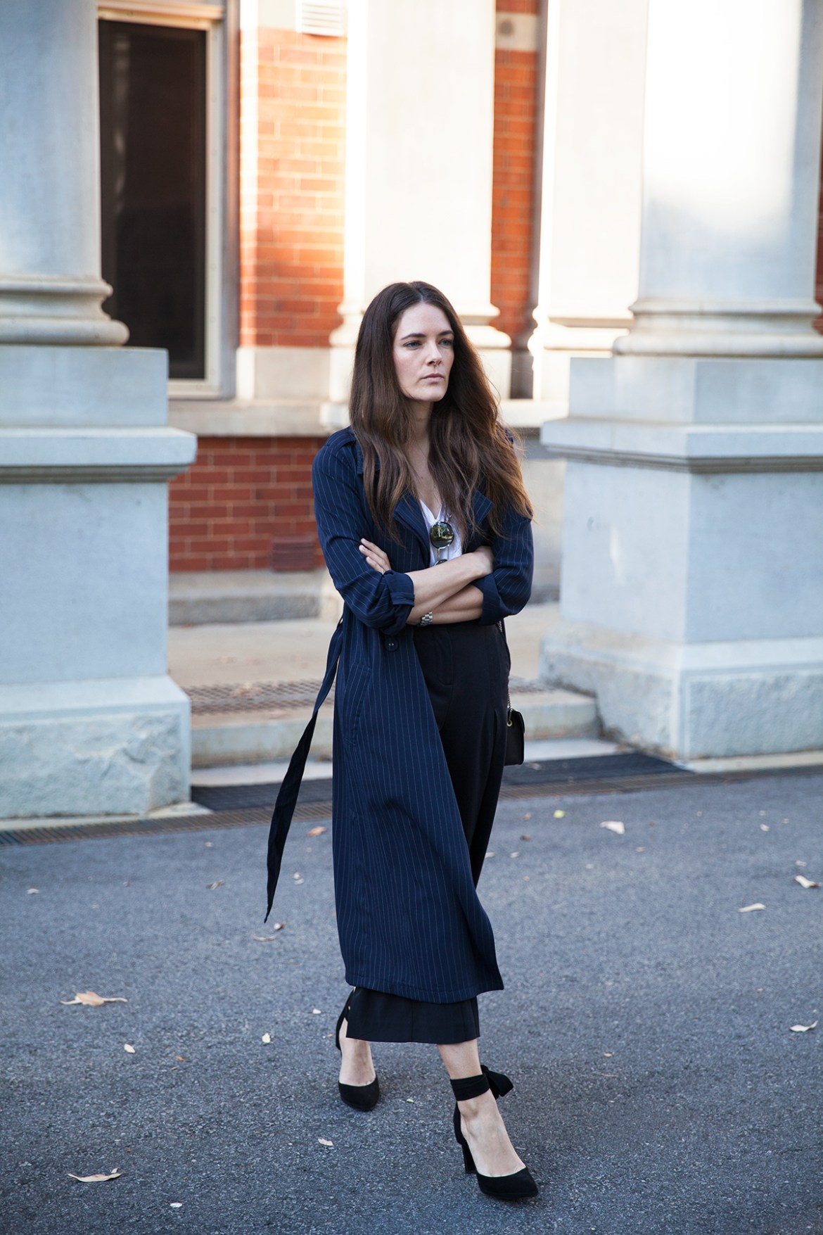 Navy trench coat Inspiring Wit street style Australian fashion blogger