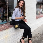 Inspiring Wit fashion blogger from Australia in the one shirt and tom ford bag 2017 Gordon Street Garage front