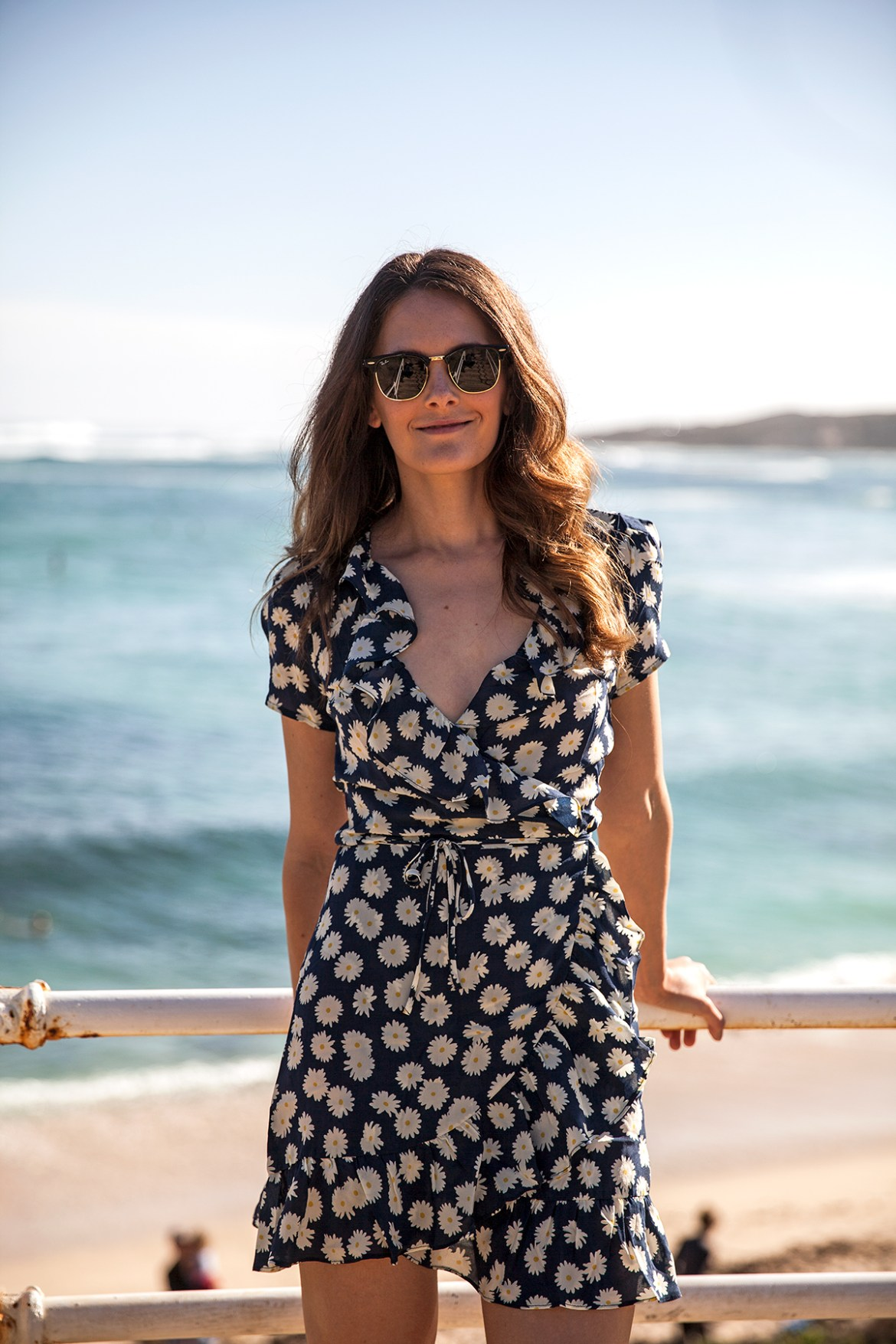 Valentina dress in Daisy print by Realisation Par worn by fashion blogger Jenelle of Inspiring Wit blog