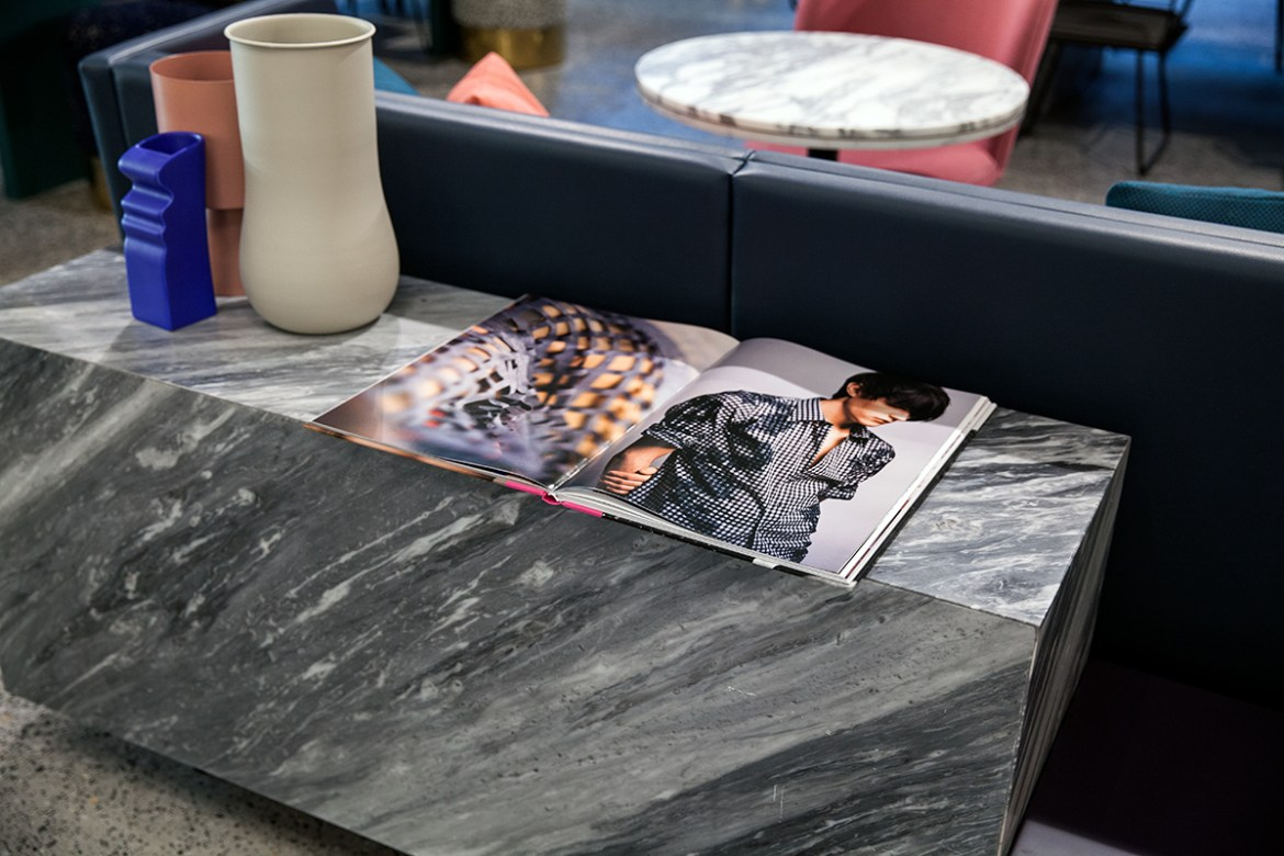 Tribe Hotel Perth marble decor, Jenelle from travel blog Inspiring Wit boutique hotel profile