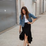 midi skirts, five reasons you need one, Hello Parry midi skirt worn by Inspiring Wit fashion blogger Jenelle Witty