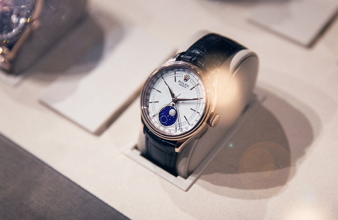 Rolex Baselworld 2017 collections at Smales Jewellers Perth Cellini Moonphase wristwatch