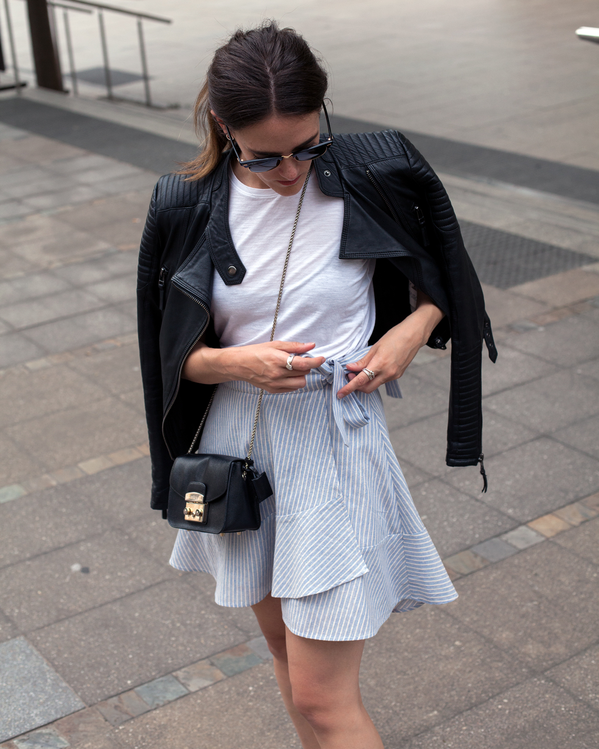 Staple the label wrap skirt worn by Inspiring Wit blogger Jenelle in new blog post on life lately