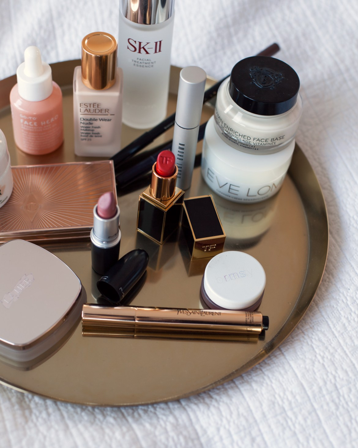 beauty blog Inspiring Wit best beauty products La Mer Tom Ford Eve Lom YSL go-to skincare Estee Lauder Bobbi Brown SK-II